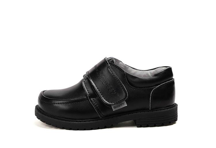 Boys school shoes nz black leather velcro closure