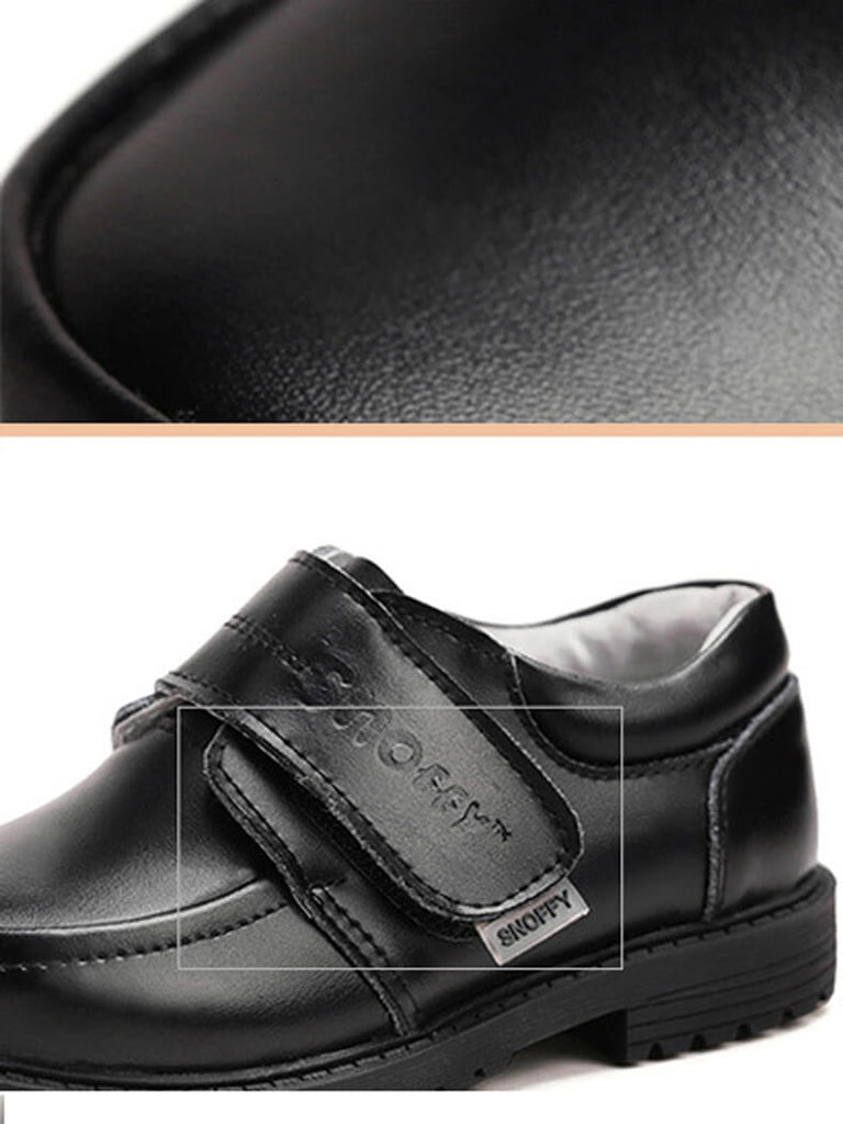 Formal leather boys shoes for weddings and special occasions
