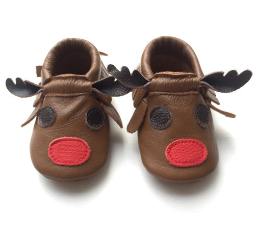 Reindeer - Soft Sole Baby Shoes