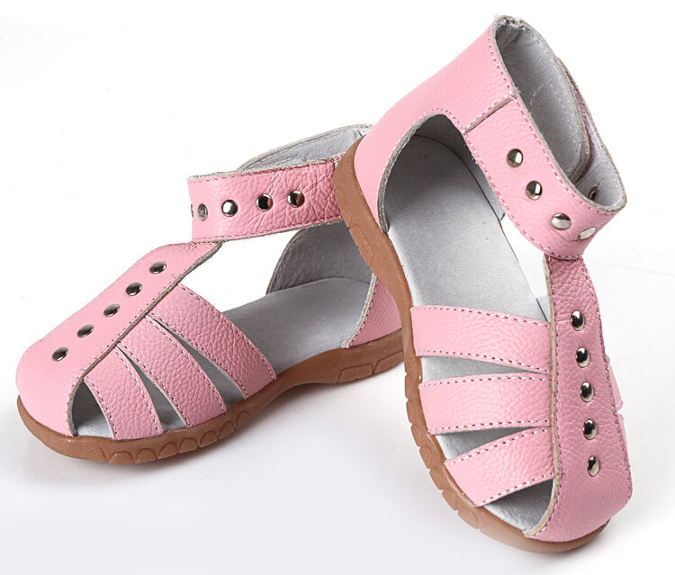 Rock About toddler girl leather sandals pink