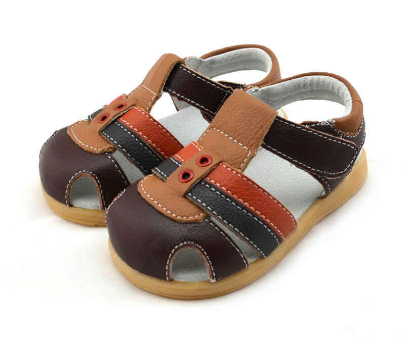 Ronan brown leather toddler sandals