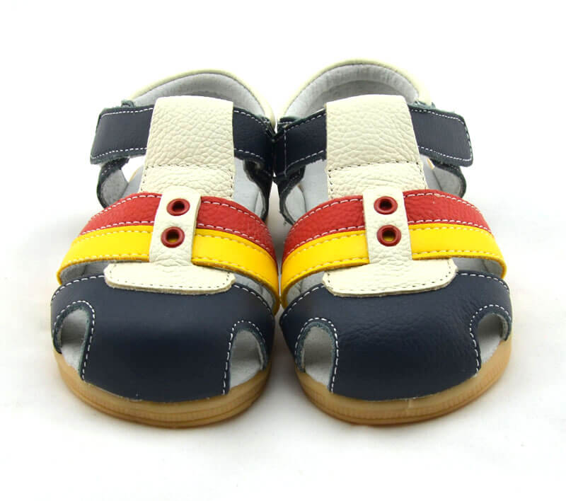 Ronan navy leather toddler sandals
