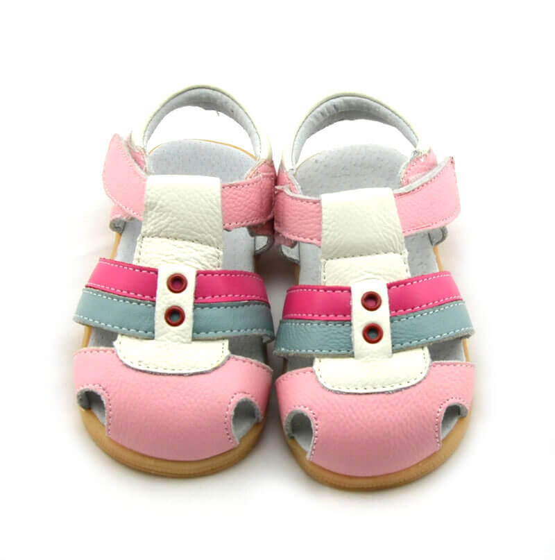 Ronan pink leather toddler sandals