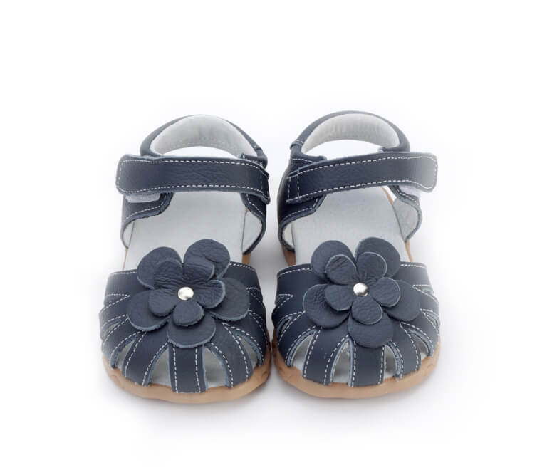 Rosie navy toddler girl's sandals front view