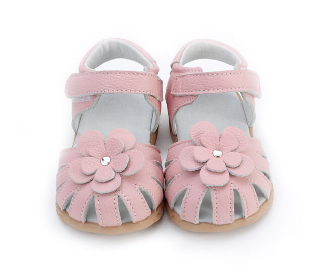 Rosie pink toddler girl's sandals front view