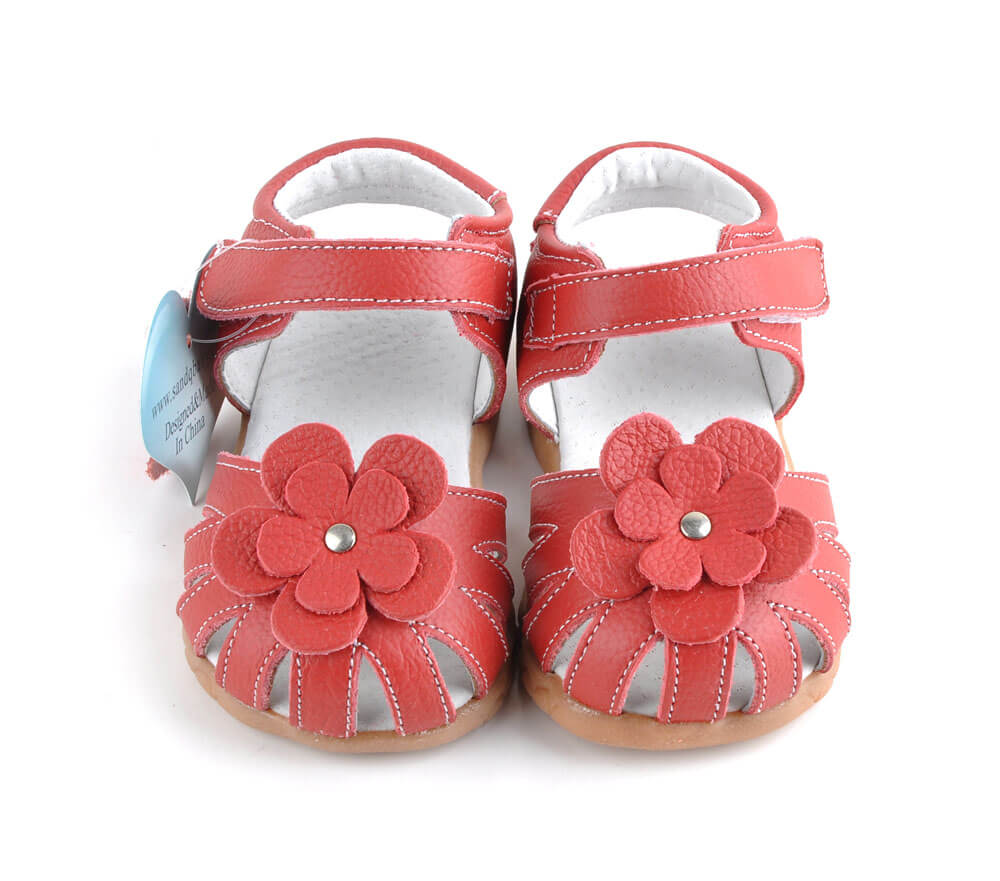 Rosie red toddler girl's sandals front view