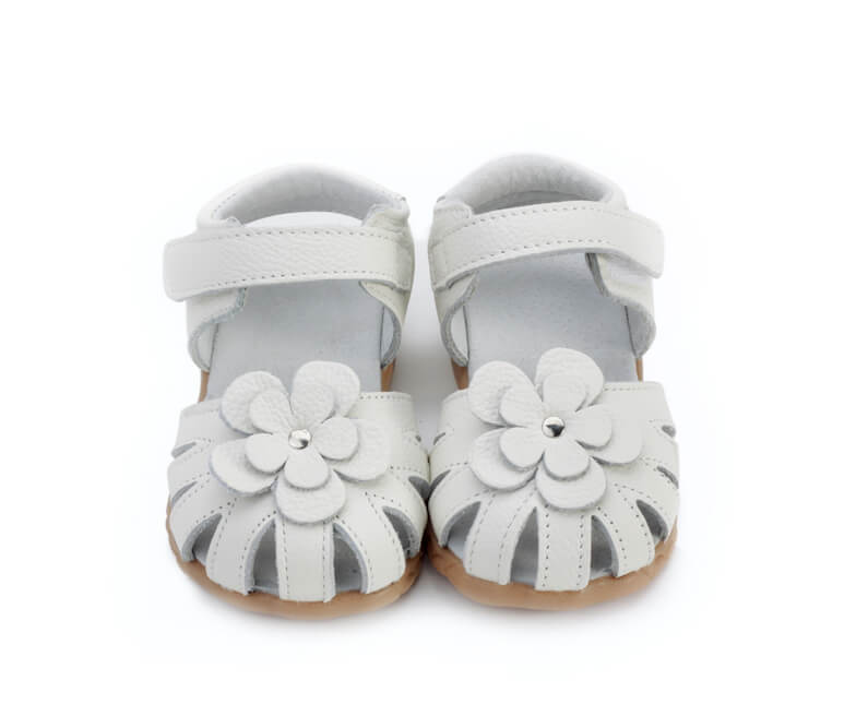 Rosie white toddler girl's sandals front view