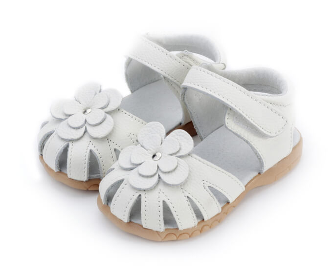 Rosie white toddler girls sandals