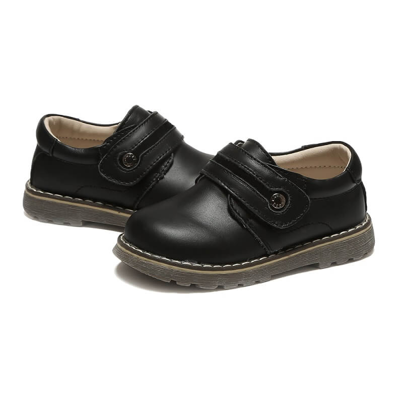 Toddler boy school shoes Sawyer black leather