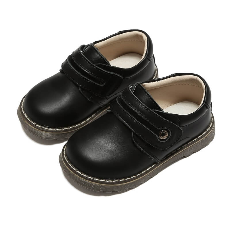 Sawyer black toddler boy shoes