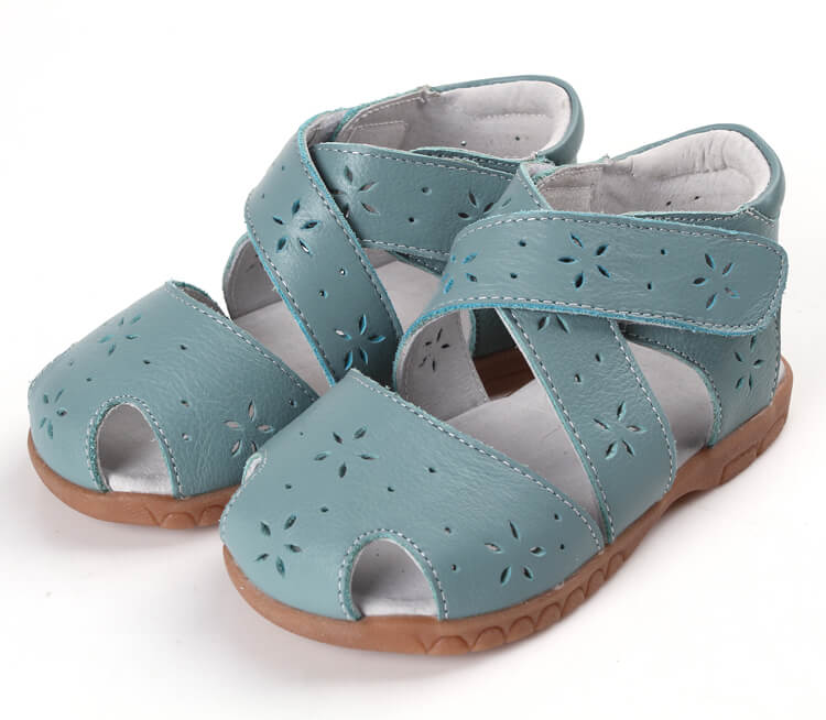 Seashell green toddler girl sandals