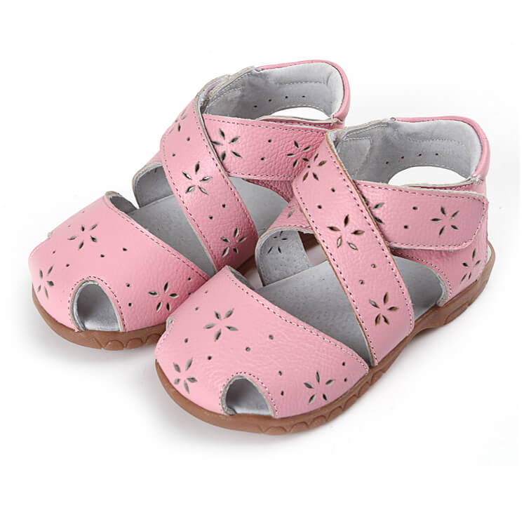 Seashell pink toddler girl sandals