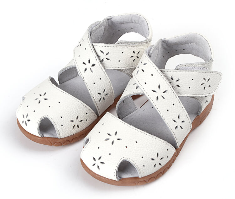 Seashell white toddler girl sandals