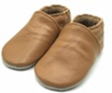 Soft soled baby shoes tan moccasin leather baby shoes