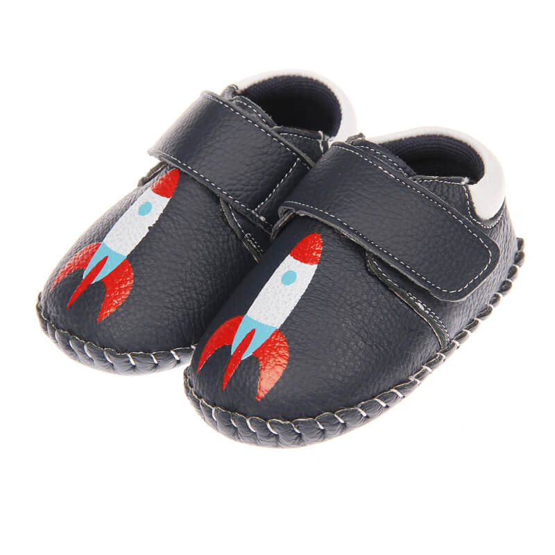 Spaceman navy baby boy shoes