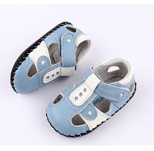 Stargazer blue leather baby boy shoes