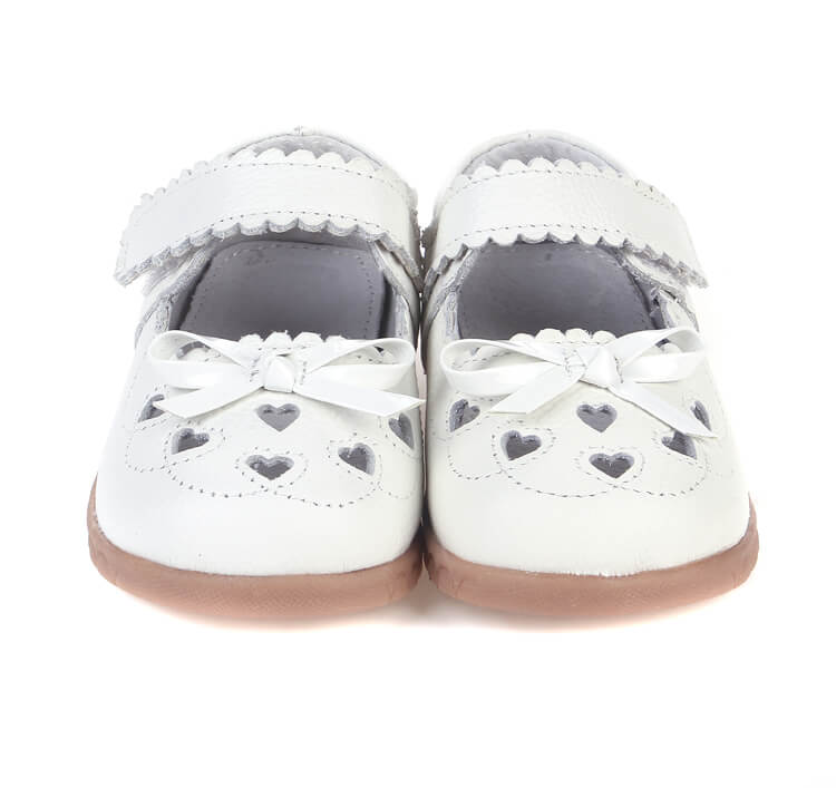 Sweetie white leather mary-jane toddler girl shoes perfect for flower girls and weddings