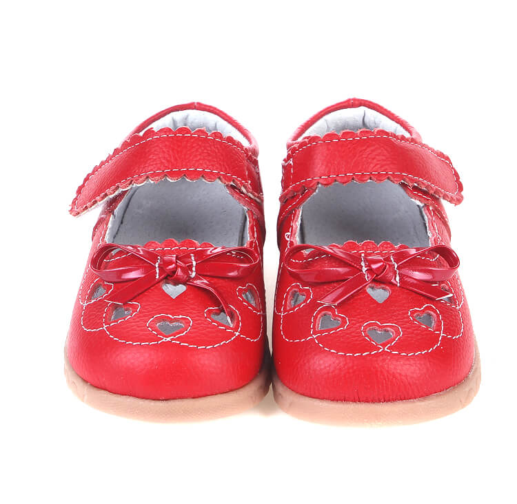 Sweetie red leather toddler mary jane shoes front view