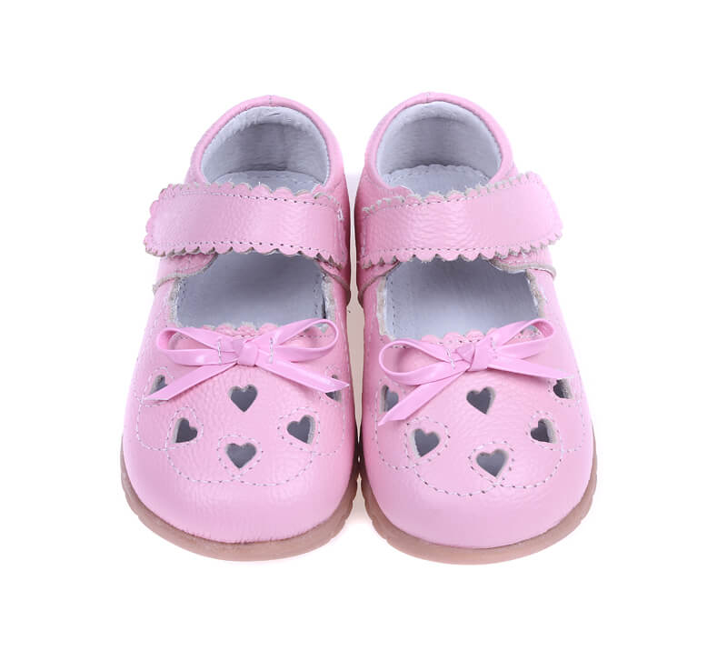 Sweetie pink leather mary-jane toddler girl shoes