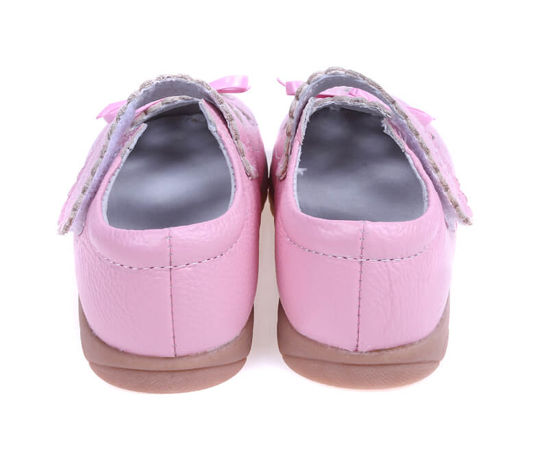 Sweetie pink leather toddler girls shoes back view