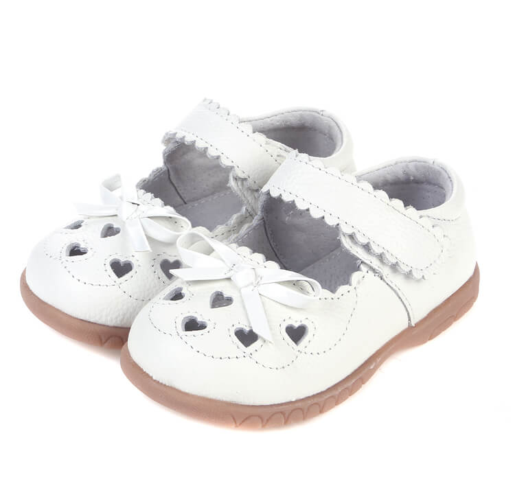 Sweetie white leather toddler mary jane shoes