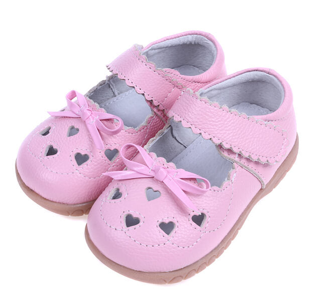 Sweetie pink leather toddler mary jane shoes