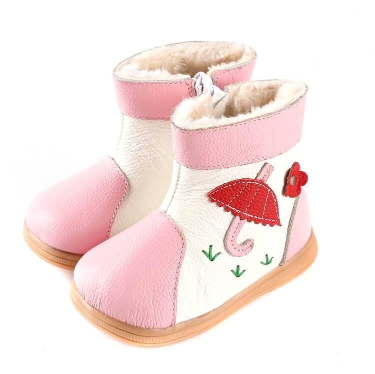 Tadpole leather toddler boots pink leather girls boots