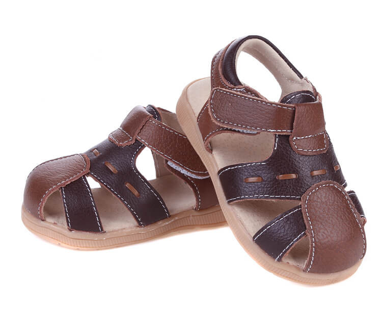 Tarmac leather toddler boy sandals brown
