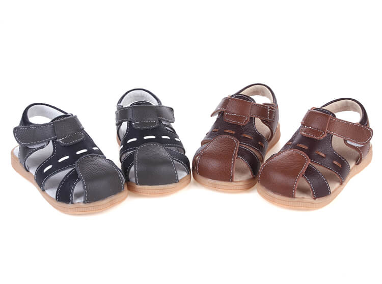 Tarmac leather boys sandals available in black and brown