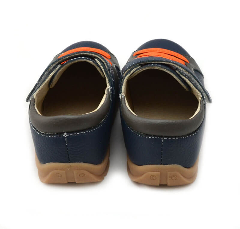 Toddler boy sneakers Whippersnapper navy blue back view