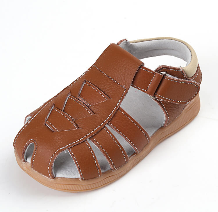 Cobra leather toddler boy sandals brown