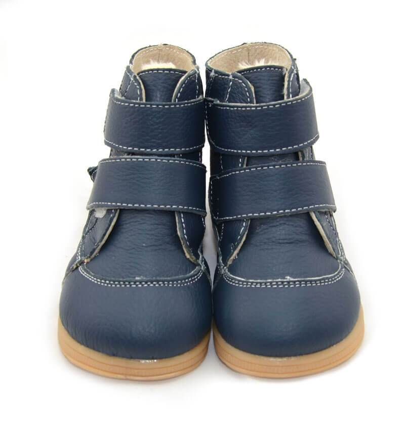 Toe warmers navy leather toddler boy boots toddler girl boots