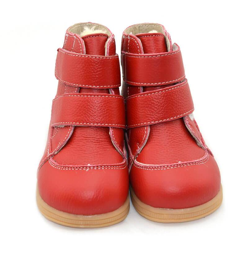 Toe warmers red leather toddler boy boots toddler girl boots