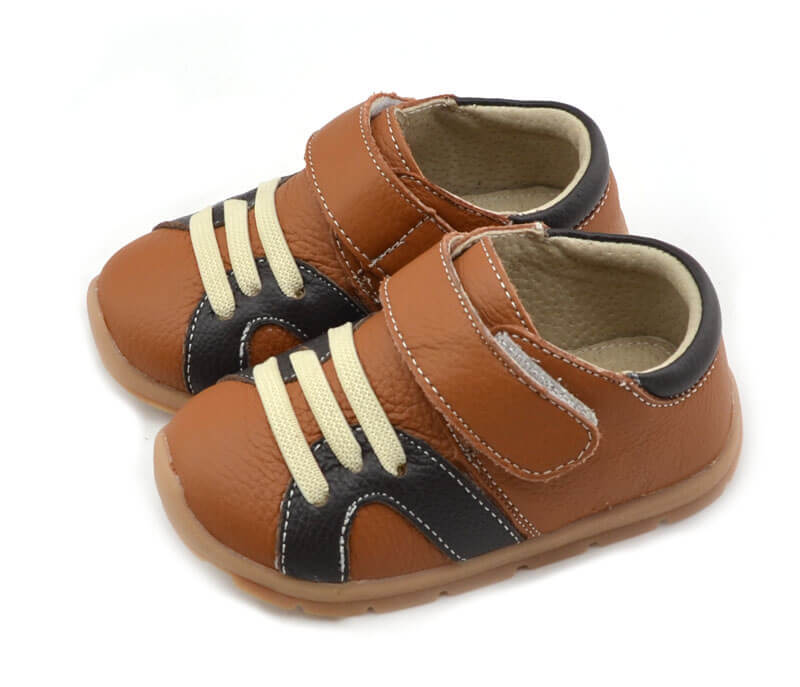 Whippersnapper tan coloured toddler boy shoes