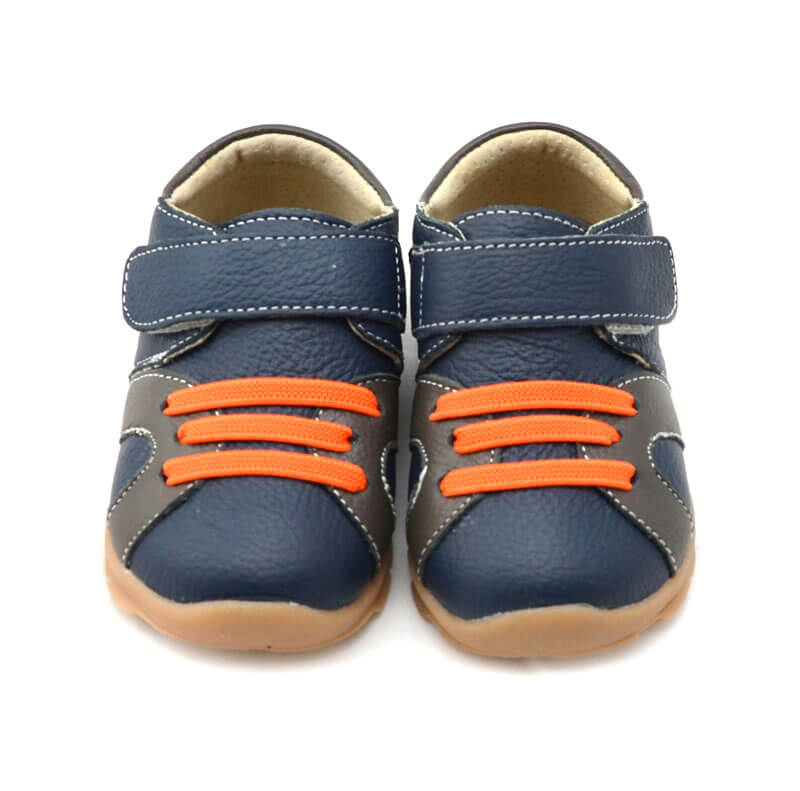 Whippersnapper navy blue toddler boy's sneakers front view