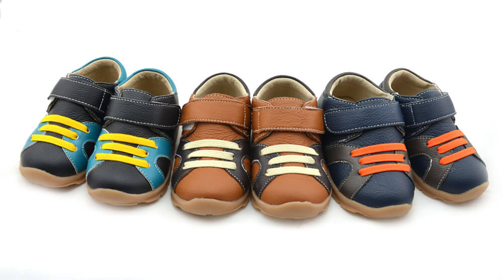 Whippersnapper toddler boys leather shoes available in black, navy blue and tan
