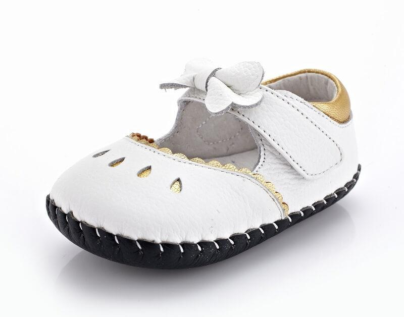 Princess white leather mary jane baby shoes flower girl shoes weddings christenings