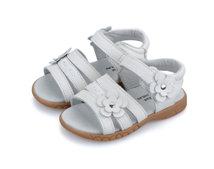 Wonderland white toddler girl sandals perfect for flower girls and weddings