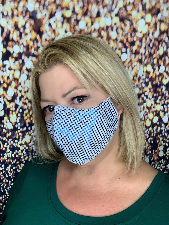 PALE BLUE BLING MASK LIQUID SEQUINS