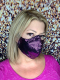 PINK BLING MASK LIQUID SEQUINS