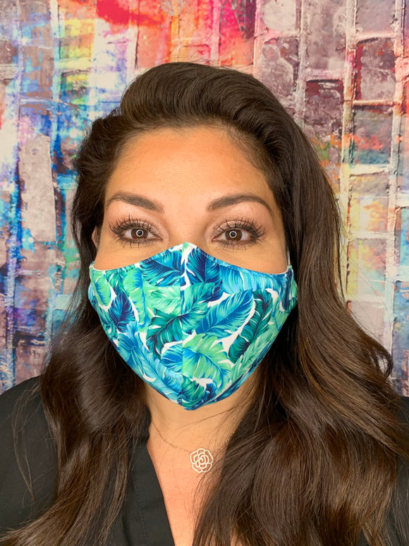 LIGHTWEIGHT BLUE TROPICAL MASK
