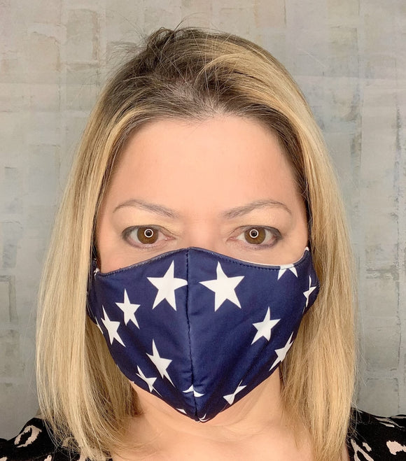 LIGHTWEIGHT NAVY STARS MASK