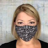 BLACK BANDANNA PAISLEY MASK LIGHTWEIGHT