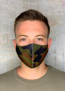 LIGHTWEIGHT OLIVE CAMO MASK