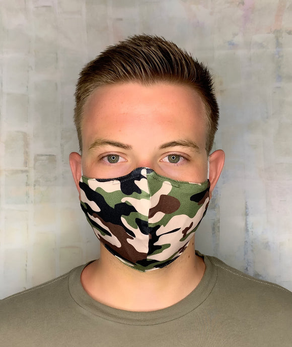 TAN CAMO CADILLAC LIGHTWEIGHT MASK