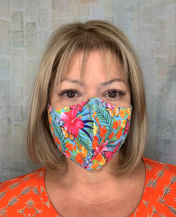 BUTTERFLY FLORAL MASK LIGHTWEIGHT