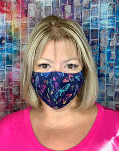NAVY OMBRE BUTTERFLY MASK LIGHTWEIGHT