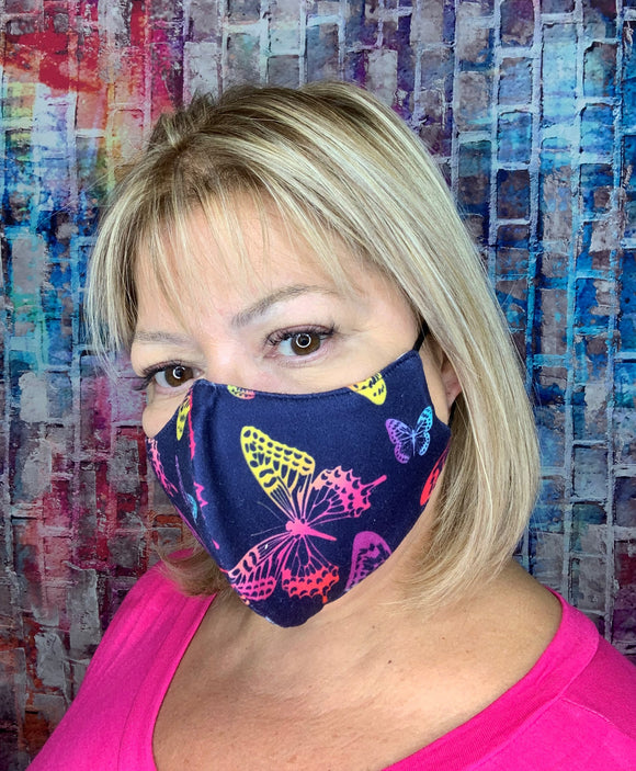 NAVY OMBRE LRG BUTTERFLY MASK LIGHTWEIGHT