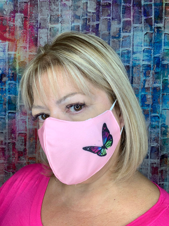 ONE BUTTERFLY PINK MASK