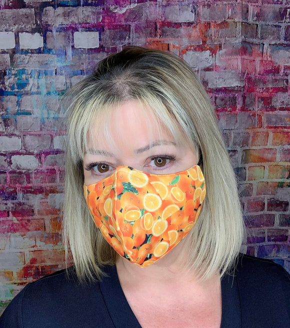 ORANGE CITRUS SLICES  MASK